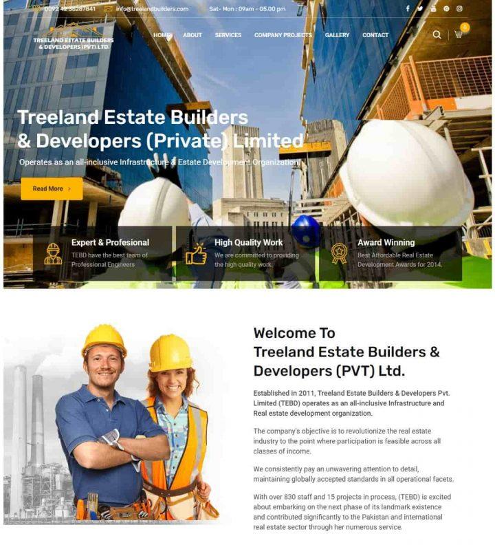 treeland estate builders website