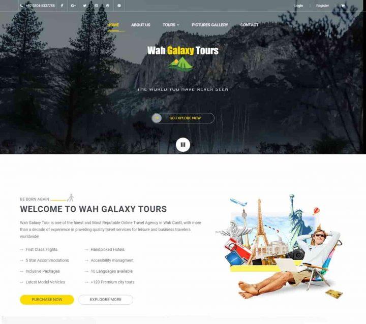 Wah galaxy tours website